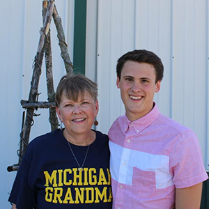 Image of Barb Schofield and her Grandson Devon